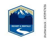 atv rental and resort logo   Shutterstock .eps vector #693947656
