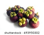 mangosteen on a white background | Shutterstock . vector #693950302