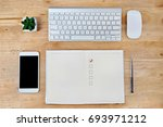book with blank checklist with... | Shutterstock . vector #693971212