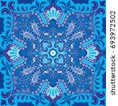 india paisley pattern ... | Shutterstock .eps vector #693972502