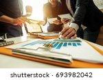 business team meeting. photo... | Shutterstock . vector #693982042