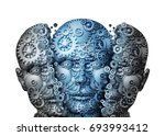 artificial intelligence or ai... | Shutterstock . vector #693993412