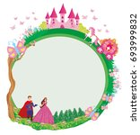 princess with prince and the... | Shutterstock .eps vector #693999832