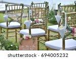 wedding setup | Shutterstock . vector #694005232