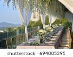 wedding setup | Shutterstock . vector #694005295