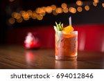 low angle closeup of gourmet... | Shutterstock . vector #694012846