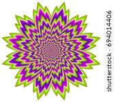 abstract green  flower. optical ... | Shutterstock .eps vector #694014406
