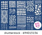 vector hand drawn textures.... | Shutterstock .eps vector #694015156