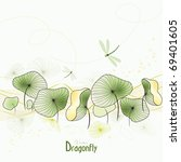 Dragonfly And Abstract Water...