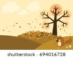 vector of autumn view have a... | Shutterstock .eps vector #694016728