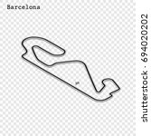 spanish grand prix race track.... | Shutterstock .eps vector #694020202