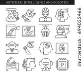 artificial intelligence and... | Shutterstock .eps vector #694023466