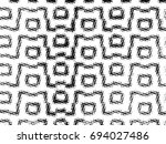 grunge halftone black and white.... | Shutterstock . vector #694027486