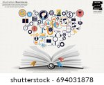 book and icon various    modern ... | Shutterstock .eps vector #694031878