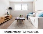 scandi style living room... | Shutterstock . vector #694033936