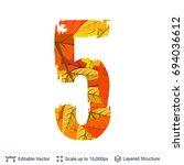 autumn fall bright orange... | Shutterstock .eps vector #694036612