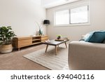 scandi styled living room with... | Shutterstock . vector #694040116