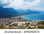 landscape coastline panorama of ... | Shutterstock . vector #694040872