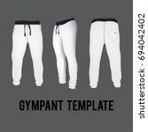 white sport pants template | Shutterstock .eps vector #694042402