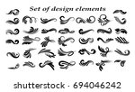 swirly line curl patterns... | Shutterstock .eps vector #694046242
