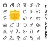 measuring related web icon set  ... | Shutterstock .eps vector #694059295