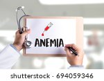 anemia blood for test   medical ... | Shutterstock . vector #694059346