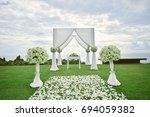 wedding setup | Shutterstock . vector #694059382