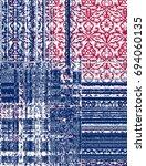 modern pack work damask carpet... | Shutterstock . vector #694060135
