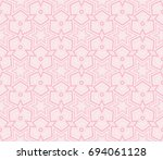 abstract background with... | Shutterstock .eps vector #694061128