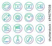 gradient rounded line icons for ...