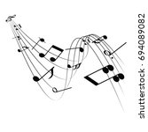 music note | Shutterstock .eps vector #694089082