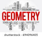 Geometry Word Cloud Collage ...