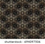 seamless tiled pattern of... | Shutterstock .eps vector #694097506