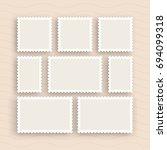 a set of postage stamps vintage ...   Shutterstock .eps vector #694099318