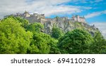 edinburgh castle in a summer... | Shutterstock . vector #694110298