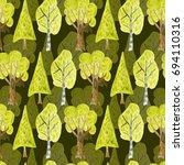 watercolor seamless pattern... | Shutterstock . vector #694110316