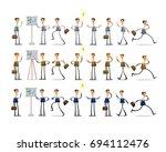 character set of businessman.... | Shutterstock .eps vector #694112476