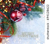 holiday background  greeting... | Shutterstock . vector #694128622