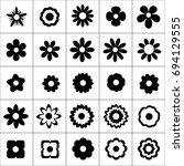 flower icon set on white... | Shutterstock .eps vector #694129555