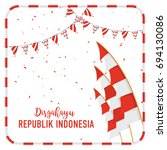 poster or banner indonesian... | Shutterstock .eps vector #694130086