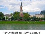 church 'protestant parish... | Shutterstock . vector #694135876