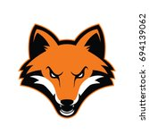 fox head mascot | Shutterstock .eps vector #694139062
