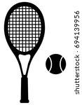 tennis sport icon illustration | Shutterstock .eps vector #694139956