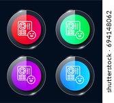 control four color glass button ...