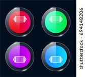 hammock four color glass button ...