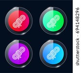 rope four color glass button ui ...