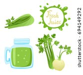 vector set of natural fresh... | Shutterstock .eps vector #694149292