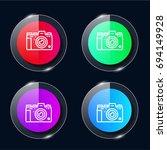 camera four color glass button...