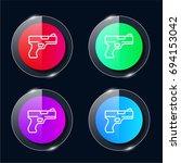 gun four color glass button ui...