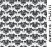 black and white seamless... | Shutterstock . vector #694153966